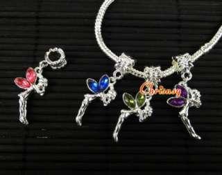 Fashion Jewelry Charm Beads Fit Bracelet Fly Angel 12x