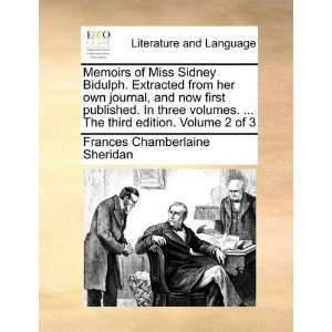 Memoirs of Miss Sidney Bidulph. Extracted from her own