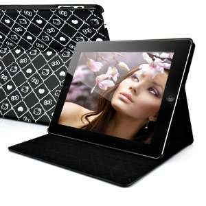 Hello Kitty Smart Cover Flip Leather Case For iPad 2 BLACK
