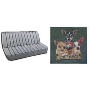 Car Truck SUV Chihuahua Trio with Bone Dog Print Rear Bench or Small