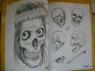 Skulls by Filip Leu popular design Tattoo Flash Book Sketch manuscript