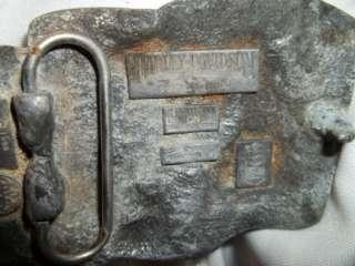HARLEY DAVIDSON BELT BUCKLE HARMONY DESIGN DATED 89