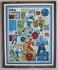 SHARP 1974 Dallas Cowboys 12 x 15 Team Collage Photo Plaque