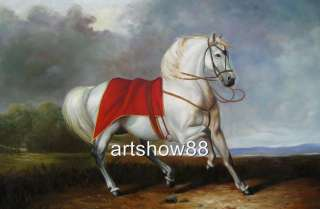 Original Animal Oil painting art Horse ​on canvas 24x36