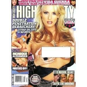 Society Magazine October 2007 Vida Guerra, Stormy: High Society: Books