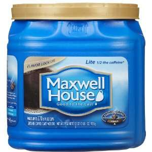 Maxwell House Coffee Lite Ground Medium 1 / 2 The Caffeine   6 Pack