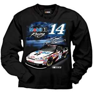 #14 Tony Stewart Mobil 1 Black Long Sleeve Pacer Tee Shirt