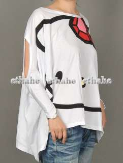 Hello Kitty Batwing Sleeve Drop Hem T Shirt Top EAGKHB