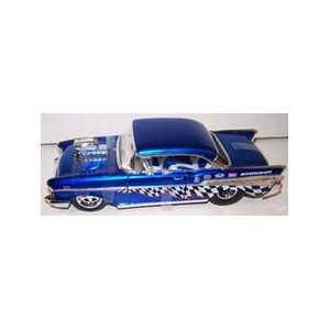 with Blown Engine 1957 Chevy Bel Air in Color Blue Toys & Games