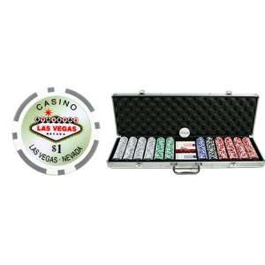 600 Clay Las Vegas Casino 13.5g Casino Poker Chip Set