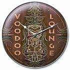 GHH Wall Clock Voodoo Lounge Logo 14 Diameter Brown Green White Ea