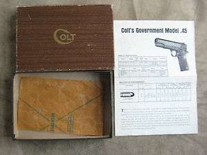 Colt .45 Auto Government Model Pistol Box ACE Gold Cup Commander Paper