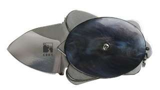 NEW COLUMBIA RIVER TURTLE FOLDING KNIFE 1 STAINLESS STEEL BLADE BLACK