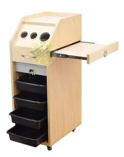 LOCKING Maple Salon Trolley Cart HAIR Beauty Salon STATION Shelves