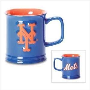 New York Mets Avon Mug NY Mets MLB Sculpted Ceramic