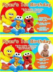 BABY SESAME STREET ELMO Birthday Invitations 1st CUSTOM