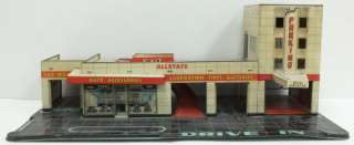 Marx Vintage  Allstate Gas Service Station Parking Garage