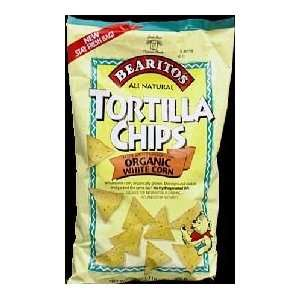 Little Bear Salted White Corn Tortilla Chips;Organic 16 oz. (Pack of