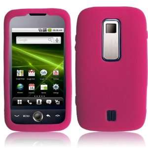 HOT PINK Textured Flexi Silicone Skin Cover Case for Huawei Ascend