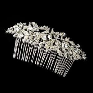 Vintage Silver Clear Crystal & Rhinestone Bridal Hair Jewelry