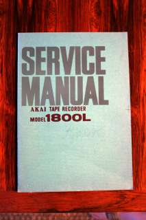Akai Model 1800L Reel Service Manual *Original*
