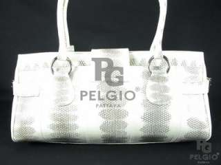 PELGIO New Genuine Sea Snake Skin Leather Handbag Purse Natural Free