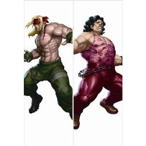 Body Pillow Anime Street Fighter , 13.4x39.4 Double sided Design