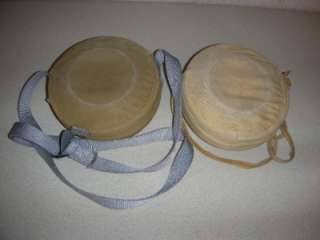 VINTAGE LOT OF 2 PALCO CANTEENS WITH COVER & STRAP 2 QUART ER MADE IN