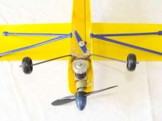 Rare 1959 Cox Super Cub 105 Model Engine Powered Control Line Airplane