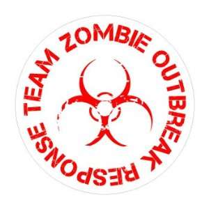 Zombie Outbreak Response Team   Window Bumper Sticker