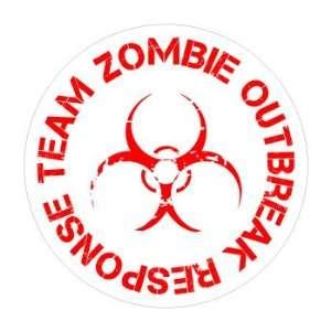 Zombie Outbreak Response Team   Window Bumper Sticker