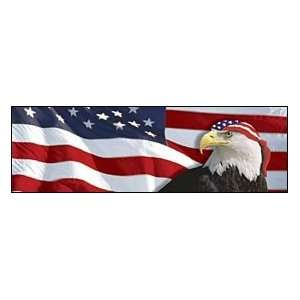 US Flag 1 Eagle Bandana Rear Window Graphic Automotive
