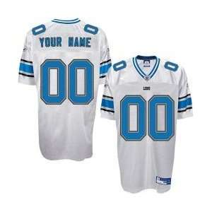 Detroit Lions White Authentic Customized Jersey