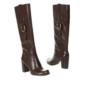 FRANCO SARTO MUSCLE BROWN LEATHER BOOT