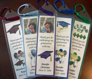 Graduation Personalized Bookmarks Tassels Party Favors |