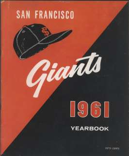 1961 San Francisco GIANTS Yearbook