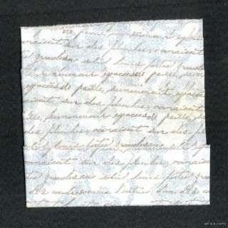 h25 vintage french script pastel blue stamped ribbon