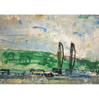 ABSTRACT FAUVIST PAINTING LANDSCAPE