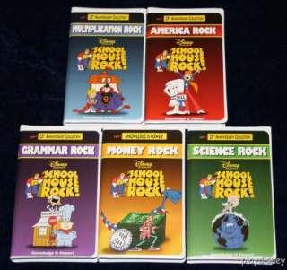 Disneys School House Schoolhouse Rock Set 5 VHS Lot 760894000592