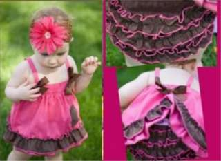 Girl Baby Ruffle Top+Pants Set S0 3Y New Bloomers Nappy Cover Clothes