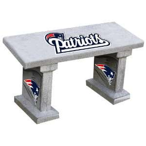 England Patriots Hand Painted Concrete Garden Bench