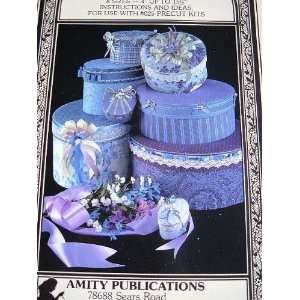 FABRIC COVERED BOXES   8 SIZES BY AMITY PUBLICATIONS