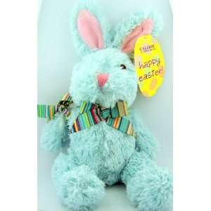 : Light Blue Stuffed Plush Toy Animal Easter Bunny Teddy Bear Easter