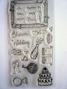 22pc. Clear Stamp Set~WHEN IS THE BIG DAY~ FISKARS