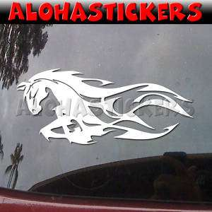 MUSTANG HORSE TRIBAL FLAME Vinyl Decal Car Sticker FL3