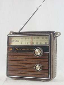 Vintage Ross 1450 AM/FM Transistor Radio
