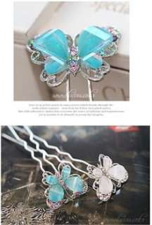 Fashion Cute Crystal Butterfly Hairpin Hair Accessories ts14 great