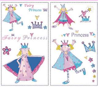 BIG 23 FAIRY PRINCESS Girls Room WALL STICKERS Decals