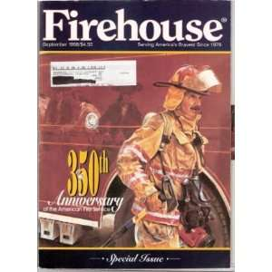 Firehouse Magazine, September 1998 350th Anniversary of
