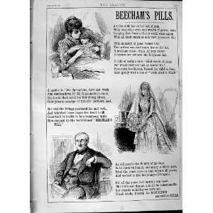 1890 Advertisement Beechams Pills Medicine Print